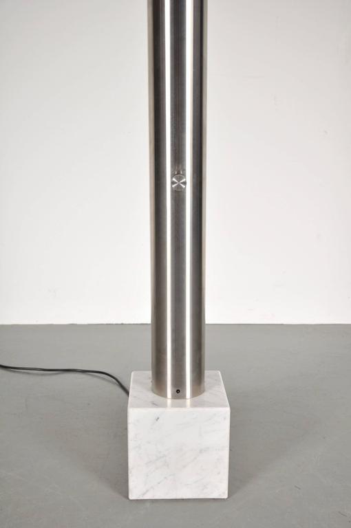 1960s aluminium floor lamp on marble base italy galerie gaudium add to cart stunning italian floor lamp aloadofball Image collections