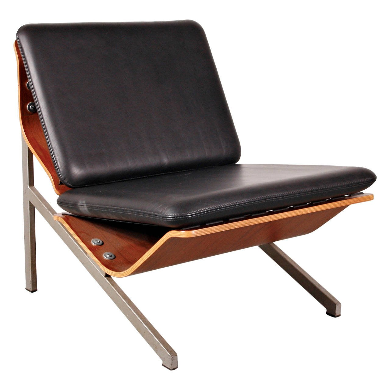 Rare Cornelis Zitman Leather Easy Chair, 1964
