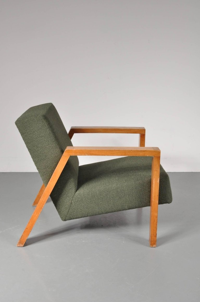Antieke Lounge Stoel.1946s Rare Lounge Chair By Groep For Goed Wonen Netherlands