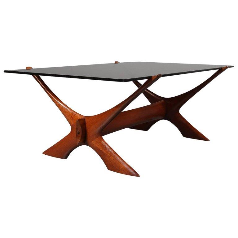 Illum Wikkelso Coffee Table for C.F. Christiansen, Denmark, 1950s