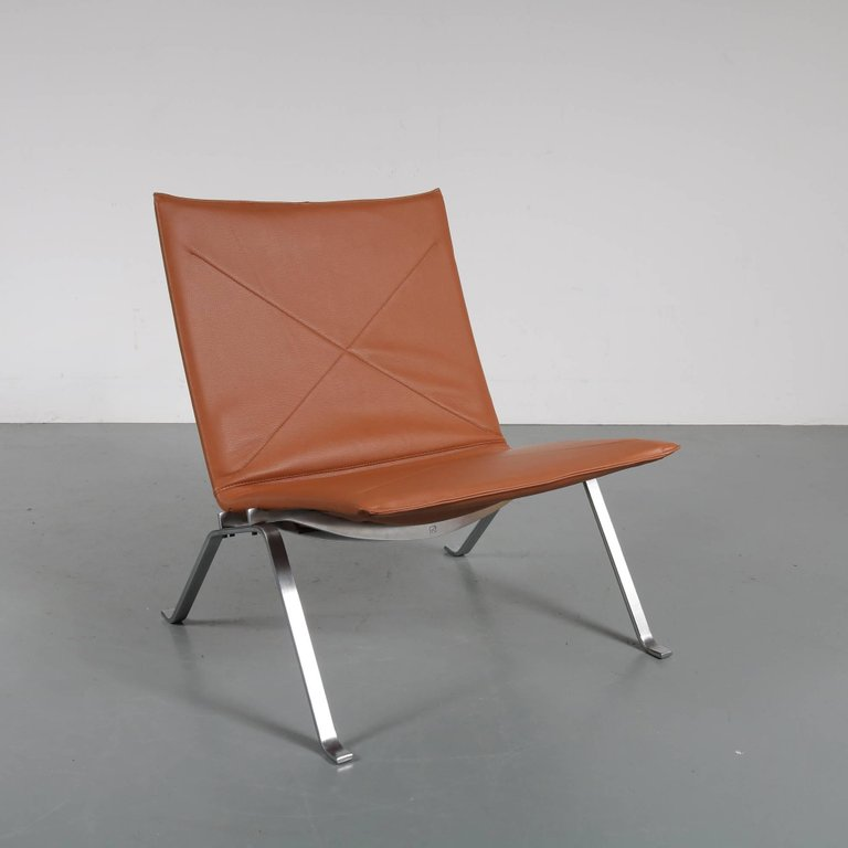 Pair Of PK22 Chairs By Poul Kjaerholm For E. Kold Christensen, Denmark, 1960