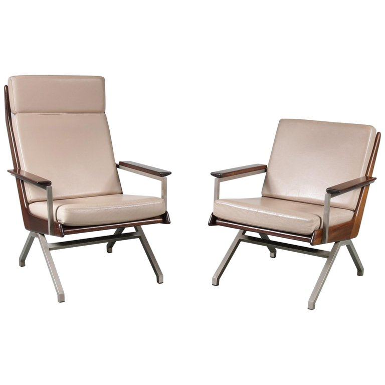 Pair of Rob Parry Lounge Chairs for Gelderland, Netherlands, 1960