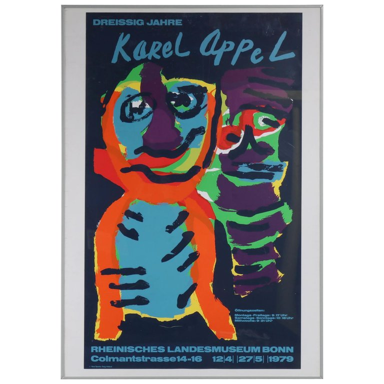 Karel Appel Silk Screen for the Rheinisches Landesmuseum Bonn, Germany, 1979