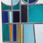 Stained Glass Window by Roger Vandeweghe for Amphora Brugge, Belgium 1960