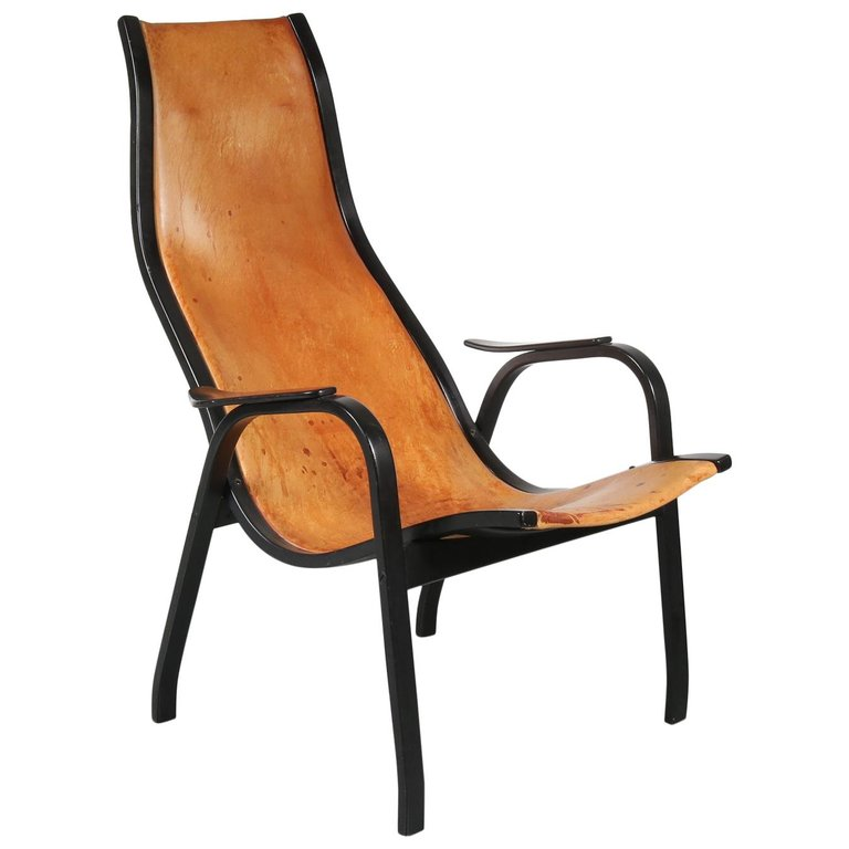 Yngve Ekström Kurva Lounge Chair for Swedese, 1953