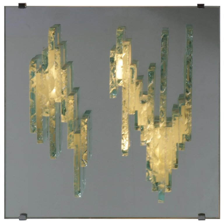 RAAK Sculptural Glass Wall Sconces Model C1517, Netherlands, 1960