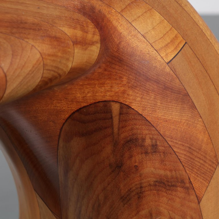 Wooden Whale Tail Bar Stools 1980s