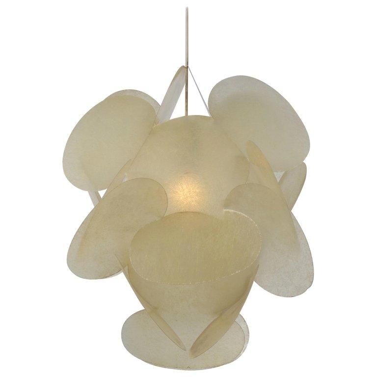 Enrico Botta Plan Hanging Lamp for Sundown, Italy 1968