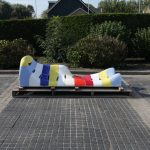 Jan Snoeck Ceramics Daybed or Sculpture from the MS Volendam, Netherlands