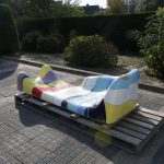 Jan Snoeck Ceramics Daybed or Sculpture from the Ms Volendam, Netherlands 1991