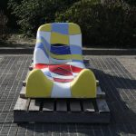 Jan Snoeck Ceramics Daybed or Sculpture from the Ms Volendam, Netherlands 1994