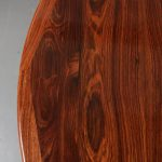 m23535 1960s Extendible round rosewooden dining table with two inlay tops Moller Moller / Denmark