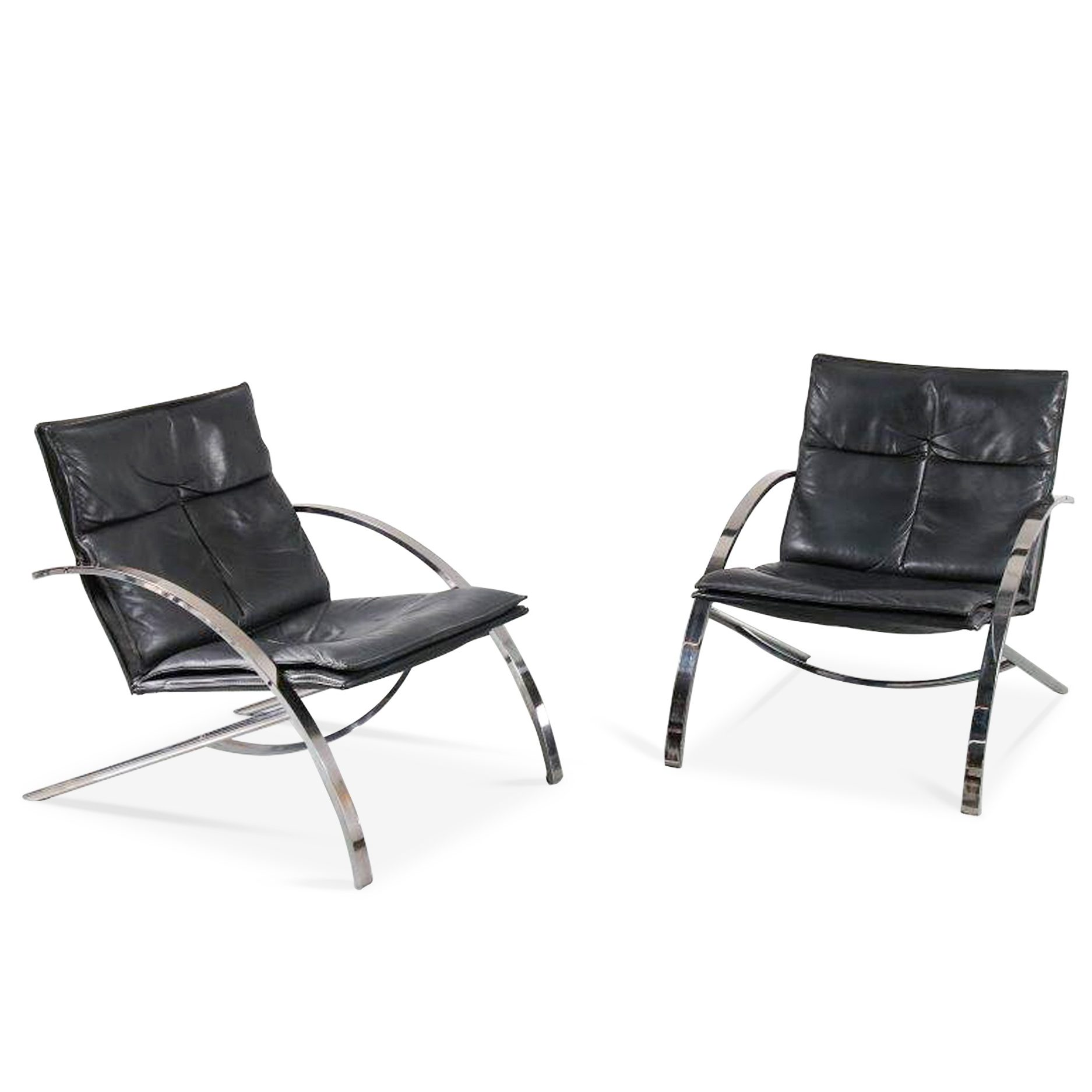 1976 Lounge chairs by Paul Tuttle for Strassle