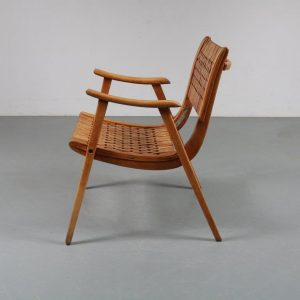m23641 1930s Bauhaus arm chair pair by Dieckmann
