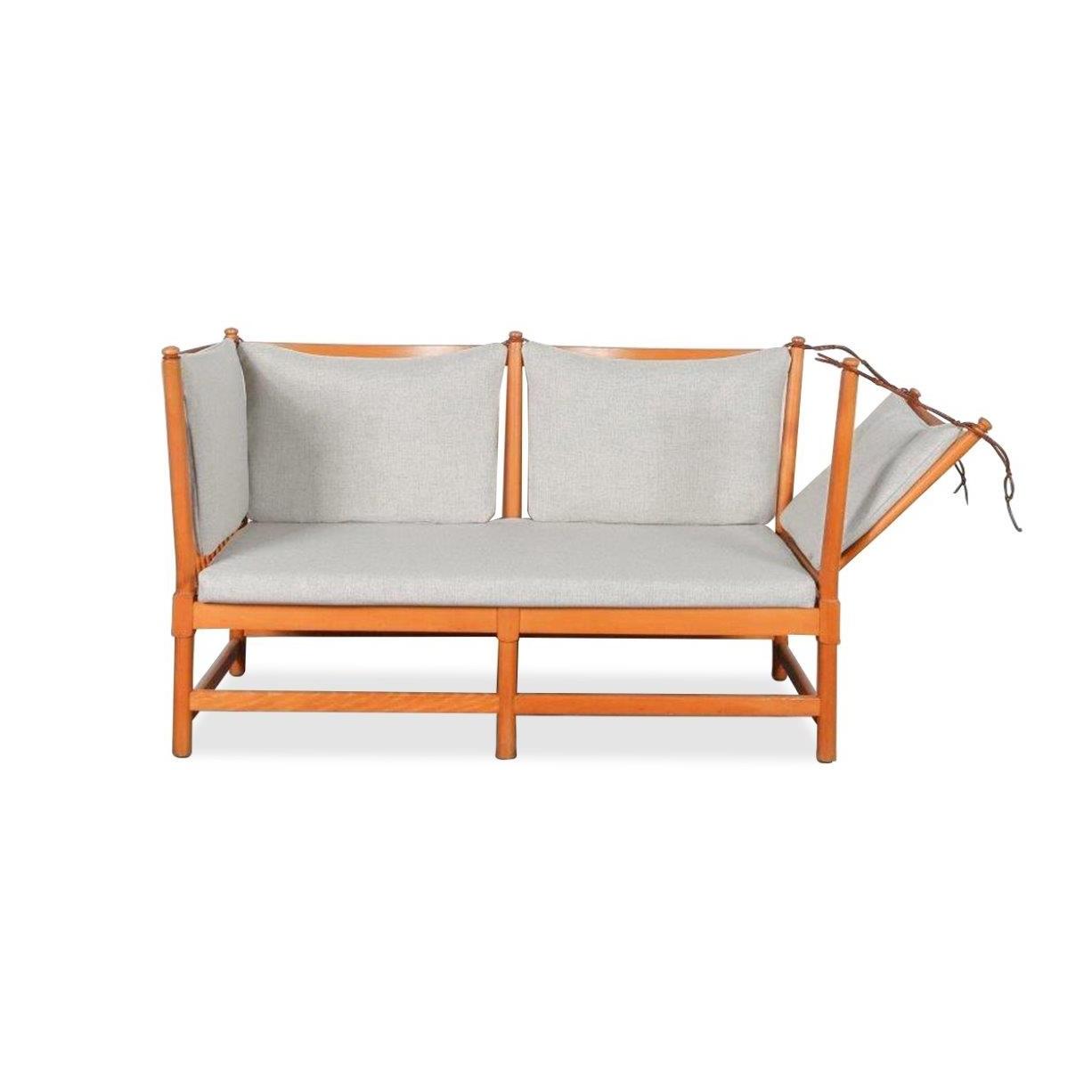 1963s Spokeback Sofa by Børge Mogensen for Fritz Hansen, Denmark