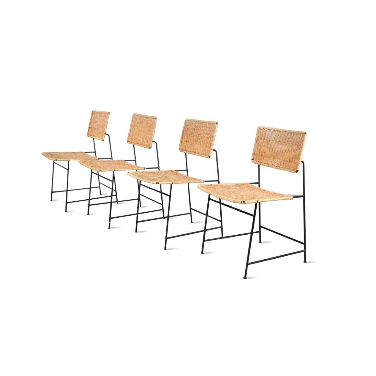 "m23305 Set of Four Herta-Maria Witzemann ""SW88"" Chairs for Wilde + Spieth, Germany 1954"
