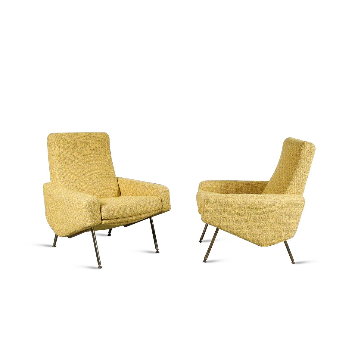 m22976 Pierre Guariche Lounge Chairs for Airborne, France 1960