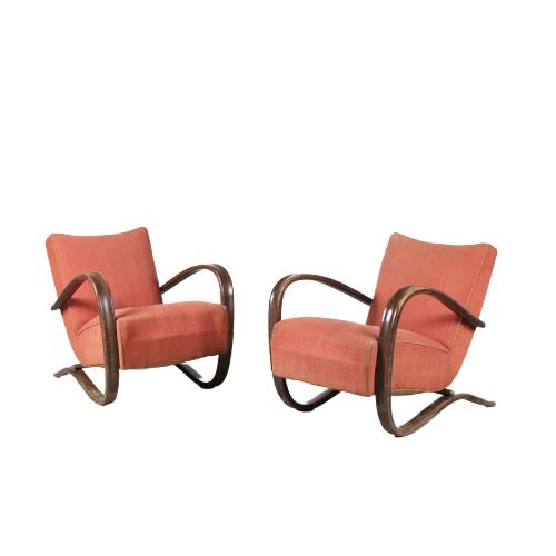 m24313 1930s set of 2 Halabala easy chair Jindrich Halabala Up Zavody Tjech