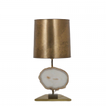 L4508 1970s agaath table lamp triangle shaped brass base Belgium