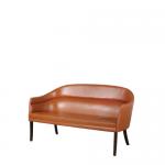 m24484 1950s Cognac leather 2-seater sofa, original Ole Wanscher J. Jeppesens / Denmark