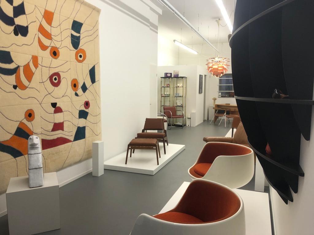 Cognac exhibition Galerie Gaudium, vintage furniture Amsterdam