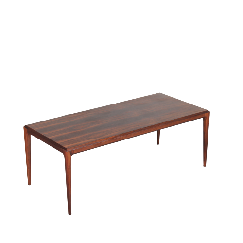 m24521 1960s Rectangular rosewooden coffee table Johannes Andersen Silkeborg / Denmark