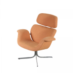 m24504 1960s Big Tulip lounge chair with new fabric Ploeg upholstery Pierre Paulin Artifort / Netherlands