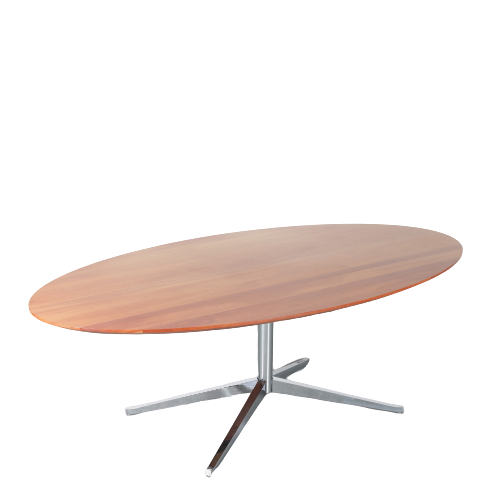 m24588-m24429 1970s Oval dining table by Florence Knoll for Knoll Int. USA