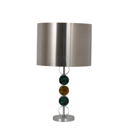 L4574 19y0s Table lamp in chrome metal with glass Nanny Still Raak / Netherlands