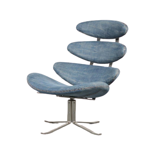 "m24698 Poul Volther ""Corona"" Chair for Erik Jorgensen, Denmark 1964"