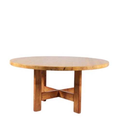 "m24604 1950s Large round pine dining table ""RW152"" with beautiful joints Roland Wilhelmsson Karl Andersson & Söner / Sweden"