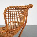 m24769 1960s Italian rattan easy chair Tito Agnoli Bonancina / Italy