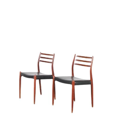 m22069A m22069B Model 78 Dining Chair by Niels O. Møller for J.L. Møller, 1960