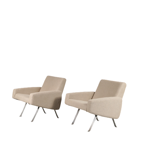 m23284 Pair of Vintage Lounge Chairs by Joseph André Motte for Artifort, 1965