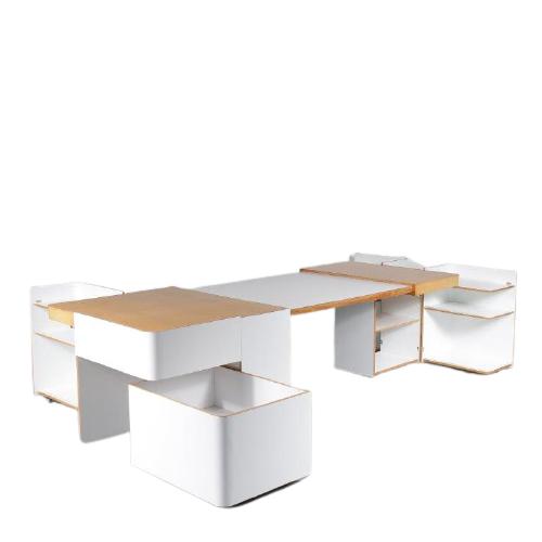 m24939 1970s Unique cabinet extendible desk Roberto Pamio, Renato Toso & Noti Massari Stilwood Italy