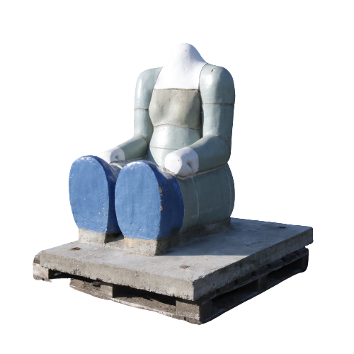 m22532 Sitting Figure Sculpture by Jan Snoeck, Netherlands 1980