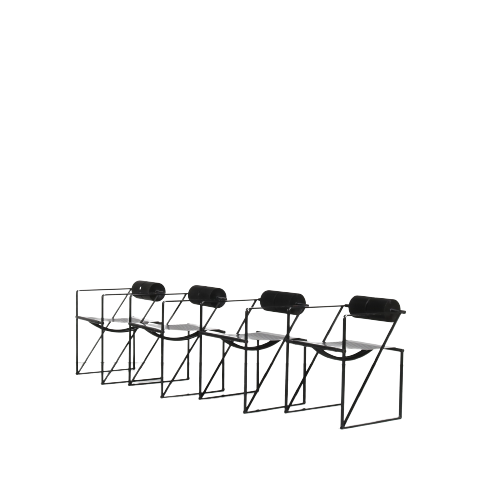 m25047 1980s set of 4 Seconda chair Mario Botta Alias Italy