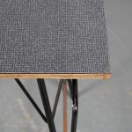 m25135-6 1950s Teachers desk on black metal base with black and grey formica top Willy vd Meeren Tubax / Belgium
