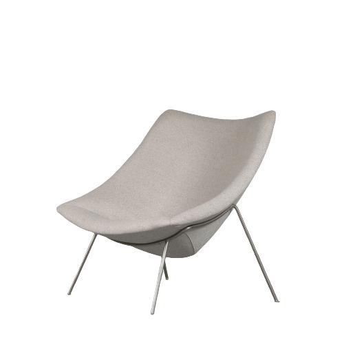 m25119 1950s easy chair model Oyster new upholstery Pierre Paulin Artfort NL
