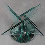 m25273 Nile Glass Coffee Table attributed to Pietro Chiesa for Fontana Arte, Italy 1970