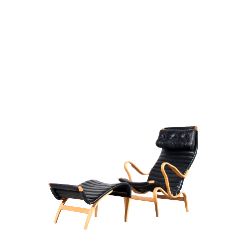 m25557 1960s Swedish easy chair with foot stool, model Pernilla Bruno Matthson Bruno Matthson Design / Sweden